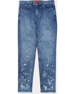 Men's HUGO 332 Distressed Jeans Blue, Blue/Blue