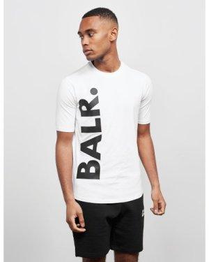 Men's BALR Classic Vertical Logo Short Sleeve T-Shirt White, White