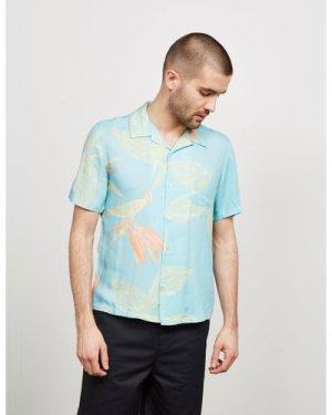 Men's Edwin Floral Resort Short Sleeve Shirt Blue, Blue/Blue
