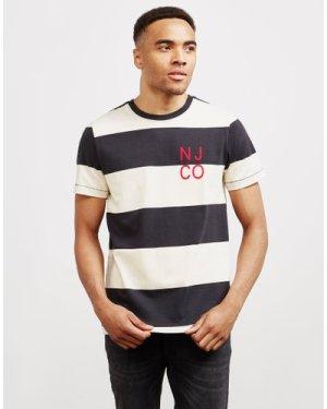 Men's Nudie Jeans Co. Stripe Short Sleeve T-Shirt White, White