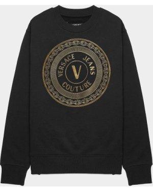 Men's Versace Jeans Couture Medallion Sweatshirt Black, Black