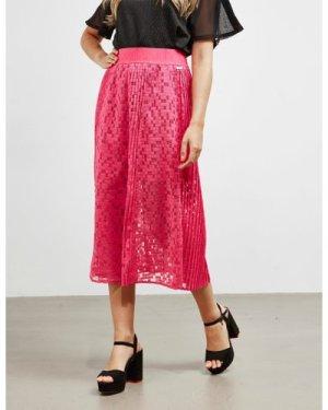 Women's Armani Exchange Lace Skirt Pink, Pink