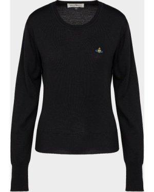 Women's Vivienne Westwood Orb Knitted Sweatshirt Black, Black/Black