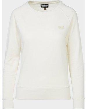 Women's Barbour International Reserve Sweatshirt White, Cream