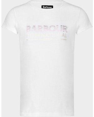 Barbour Foil Logo T-Shirt White, White