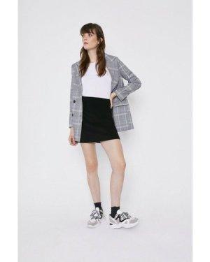 Womens Velvet High Waisted Mini Skirt - black, Black