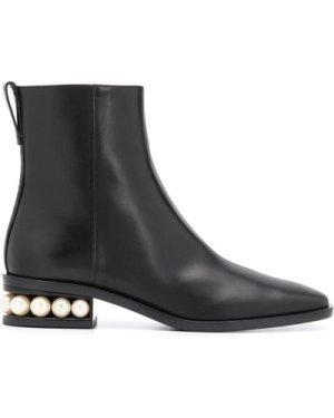 Nicholas Kirkwood 20FW 903A52VLS2 N99 Casati Pearl zip Boots 30mm Black (Size: 375)