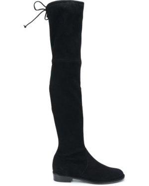 STUART WEITZMAN 20FW S2167 LOWLAND suede stretch boots Black (Size: 35)