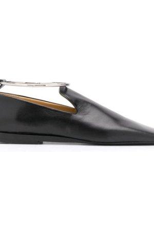 Jil Sander ankle bracelet square-toe loafers (Size: 375)