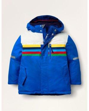 All-weather Waterproof Jacket Blue Boys Boden, Blue