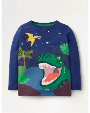 Adventure Appliqué T-shirt Blue Boys Boden, Blue