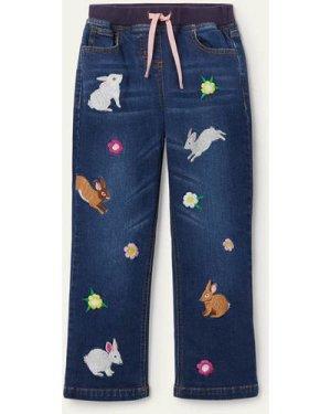 Fun Bunny Jeans Denim Girls Boden, Multicouloured