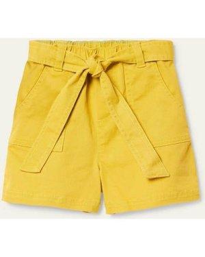Tie-waist Shorts Yellow Girls Boden, Yellow