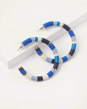 Beaded Hoop Earrings Blue Women Boden, Blue