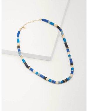 Beaded Short Necklace Blue Women Boden, Blue