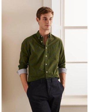 Modern Oxford Shirt Green Men Boden, Green