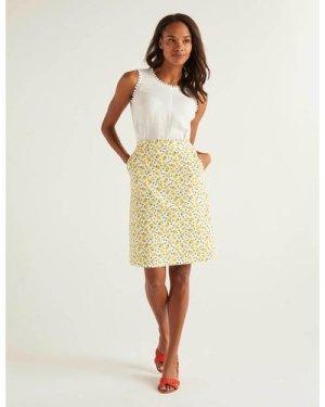 Francesca A-line Skirt Ivory Women Boden, Ivory