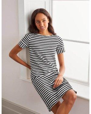 Darcey Jersey T-shirt Dress Navy Boden, Ivory