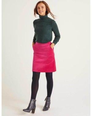 Mimi Velvet Skirt Pink Women Boden, Pink