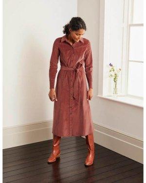 Judith Cord Shirt Dress Brown Boden, Red