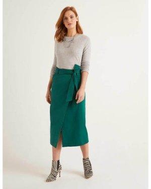 Pevensie Pencil Wrap Skirt Green Women Boden, Green
