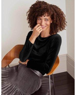 Hazel Velvet Top Black Women Boden, Black