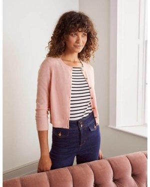 Cashmere Crop Cardigan Pink Boden, Pink