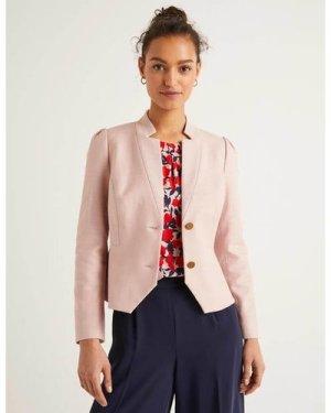 Woodville Textured Jacket Pink Women Boden, Pink
