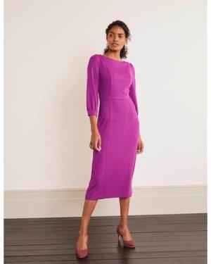 Colette Ponte Dress Purple Women Boden, Purple