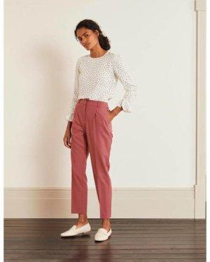 Bridport Straight Leg Trousers Pink Women Boden, Pink