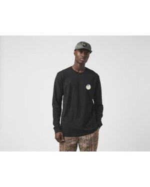 Stussy Long Sleeve 8 Ball Corp T-Shirt, Black