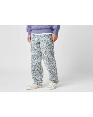 Pleasures Eclipse Cheetah Beach Pants, Blue/White
