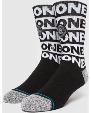 Stance Ramones Socks, Black/White