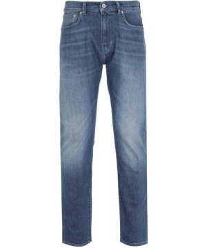 Edwin ED-80 CS Red Listed Blue Washed Denim Slim Tapered Rinsed Jeans