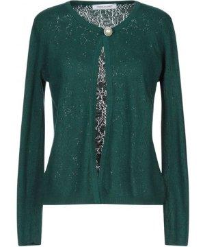 Pierre Balmain Green Knit Cardigan With Brooch Detail