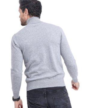 C&Jo C&JO Turtleneck Sweater in Light Grey