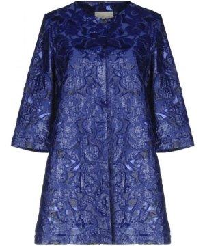 L' Autre Chose Bright Blue Cotton Coat
