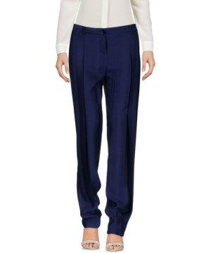 Patrizia Pepe Dark Blue Crepe Straight Leg Tailored Trousers