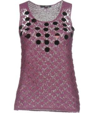 Liu Jo Purple Cotton Knit Sequin Tank