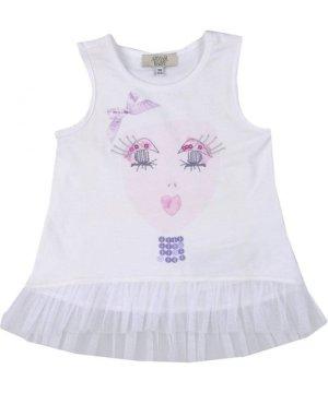 Armani Junior TOPWEAR White Girl Cotton