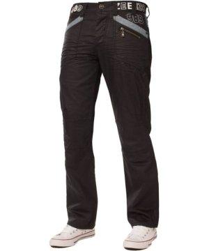 Enzo Mens Black Coated Denim Jeans   Designer Menswear