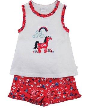 Mini Vanilla Unicorn short summer Pyjamas for Girls