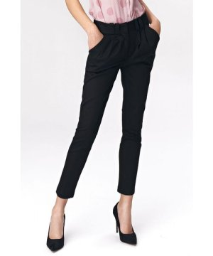 Nife Fitted womens trousers - black