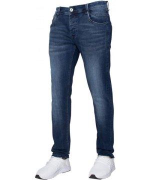 Enzo ETO   Mens Designer Basic Hyperstretch Blue Jeans