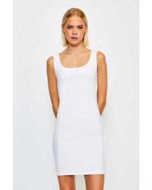 Karen Millen Smooth Essential Scoop Neck Slip Dress -, White