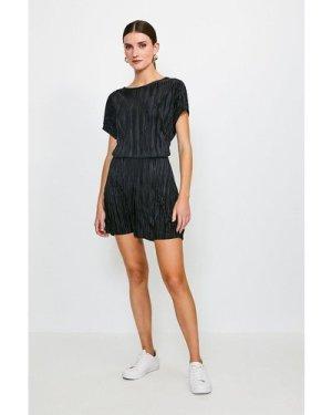 Karen Millen Lounge Plisse Shorts -, Black