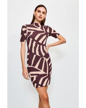 Karen Millen Abstract Jacquard Knitted Dress, Multi