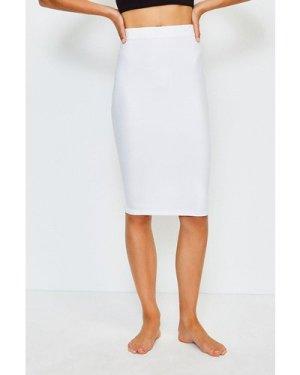 Karen Millen Smoothing Essentials Midi Slip Skirt -, White