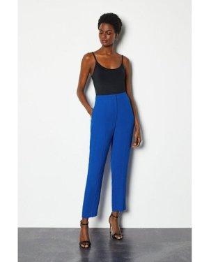 Karen Millen Soft Tuxedo Peg Trouser -, Blue
