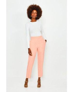 Karen Millen Soft Tuxedo Peg Trousers -, Orange